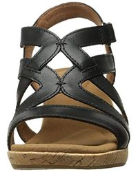 Rockport Black Briah Caged Wedge Sandal