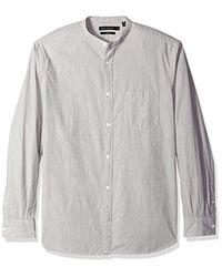 French Connection Gray Jeans Zeper Melange Shirt for men
