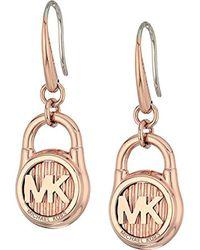 Michael Kors Metallic Hamilton -tone Drop Earrings