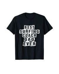COACH Black S Best Surfing Dad Ever Surfing T-shirt