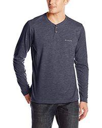 Columbia Blue Thistletown Park Henley Shirt for men