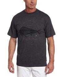 Quiksilver Gray Waterman Live To Fish T-shirt for men