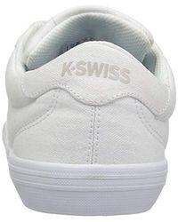 K-swiss White Backspin Fashion Sneaker for men