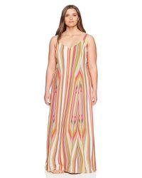 RACHEL Rachel Roy Multicolor Plus Size Strappy Maxi