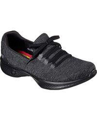 Skechers Black Performance Go Walk 4 A.d.c. All Day Comfort Walking Shoe