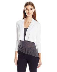 Calvin Klein White Knit Shrug Sweater