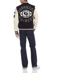 True Religion Black Richie Letterman Classic Jacket for men