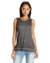 Stateside - Gray Oil Wash Muscle Tee - Lyst