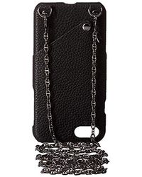 Laundry by Shelli Segal Black Crossbody Cellphone Case And Necklace