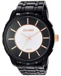 Analog-Quartz Watch with Alloy Strap di Steve Madden in Black da Uomo