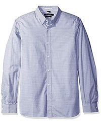 French Connection Blue Horizontal Oxford for men