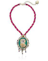 Betsey Johnson Multicolor S Dog Pendant Necklace