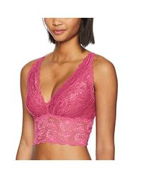 Cosabella Pink Say Never Plungie Longline Bralette