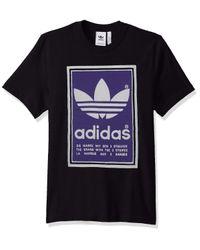 Adidas Originals Black Filled Label Sweatshirt for men