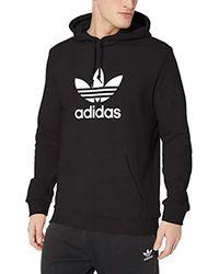 Adidas Originals Black Trefoil Hoodie for men
