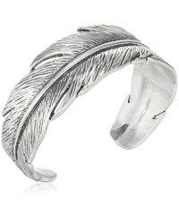 Lucky Brand Metallic Feather Cuff Bracelet