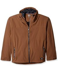Dickies Brown Performance Waterproof Breathable Jacket Hood Big for men