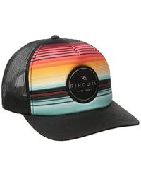 Rip Curl Black Aggroculture Trucker Hat for men