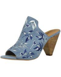 Lucky Brand Blue Emree Heeled Sandal