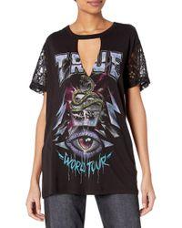 Lace Sleeve Concert Tunic di True Religion in Black