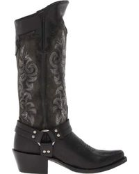 Frye Black Lily Harness Tall Boot
