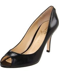 Ivanka Trump - Black Cleo Peep-toe Pump - Lyst