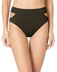 Vince Camuto Black High Waist Bikini Bottom Swimsuit With Cut Out Detail