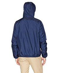 Lacoste Blue Long Sleeve Taffeta Front Zip Pockets, Bh3363 for men