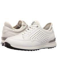 Ecco White Golf Speed Hybrid Shoes