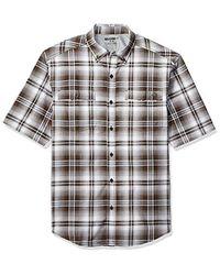 Wolverine Brown Springport Short Sleeve Shirt for men