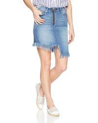 William Rast Blue Tiff 5 Pocket Denim Skirt