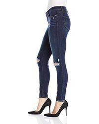 PAIGE - Blue Verdugo Ultra Skinny Jeans - Aveline Destructed, - Lyst
