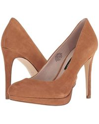Nine West Brown Quabree Suede Pump