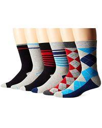 Ben Sherman Multicolor 6-pack Ben Crew Socks for men