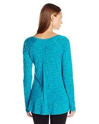 Calvin Klein Blue Performance Convertible-sleeve Space-dye Tunic