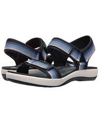 Clarks Blue Brizo Ravena Flat Sandal