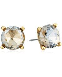 Badgley Mischka Metallic Round Champagne Stone Stud Earrings