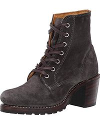 Frye Black Sabrina 6g Lace-up Boot