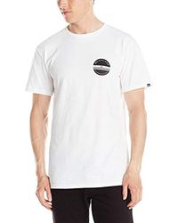 Quiksilver White Lock And Load T-shirt for men