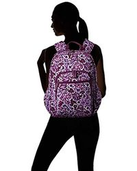 Vera Bradley Purple Campus Tech Backpack