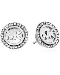 Michael Kors - Metallic S Pave Stud Earrings - Lyst