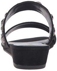 Nine West Black Temisha Fabric Wedge Sandal