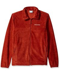 Columbia Red Steens Mountain Full Zip 2.0, Soft Fleece With Classic Fit for men