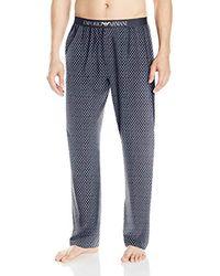 Emporio Armani Blue Pattern Mix Lounge Pant for men