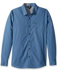 Volcom Blue Rains Long Sleeve Shirt for men