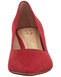 Nine West Red Soho9x9 Suede Pump