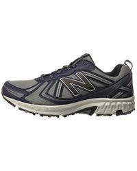New Balance Gray Mt410v5 Cushioning Trail Running Shoe for men
