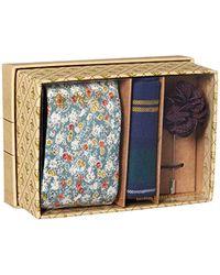 Original Penguin Green Sommers 3-piece Floral Tie, Pocket Square & Lapel Pin Box for men