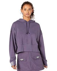 Adidas Originals Purple Cropped Hoodie