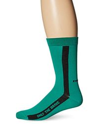 DIESEL Black Playful Fresh And Bright Cotton Sock for men